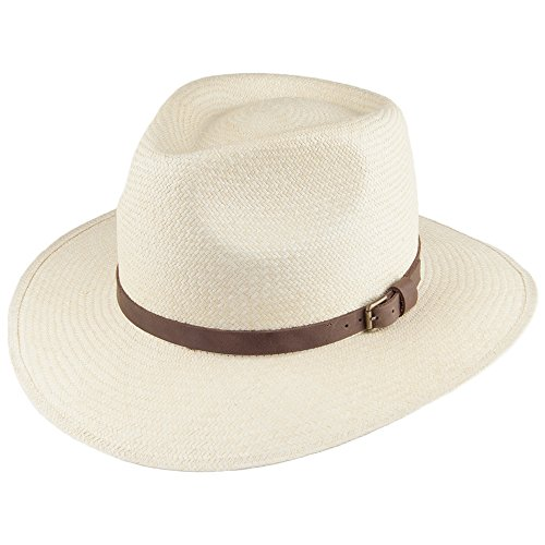 Village Hats Chapeau Australien Panama Naturel Signes - Large