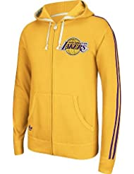 Los Angeles Lakers Adidas Originals NBA Vintage Full Zip Hooded Sweatshirt chemise