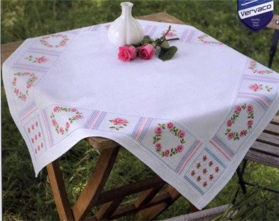 Vervaco PN-0146075 Decke Romantik mit Rosen aida