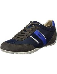 Geox U Dennie B, Sneakers Basses Homme, Bleu (Navy), 41 EU