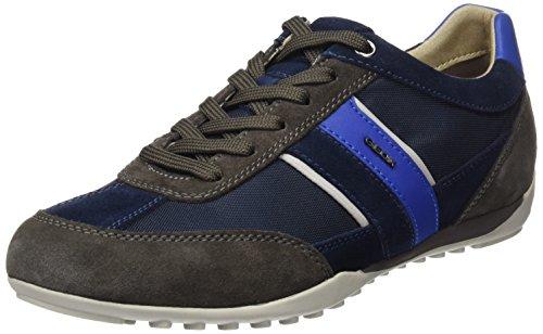 Geox U Wells C, Zapatilla Baja para Hombre, Azul (Dk Navy), 44 EU