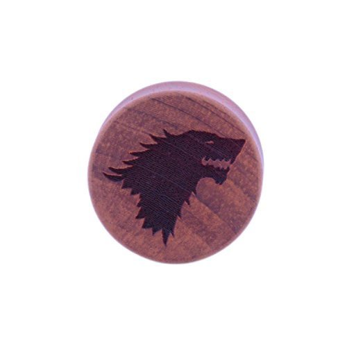 Game of Thrones Haus Stark Holz Ohrstecker - 12mm