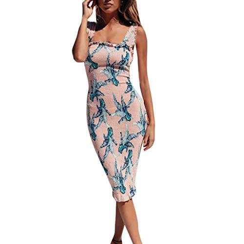 Muttertagsgeschenk! Pondkoo Elegante Blumenkleider für Damen von der Schulter mit kurzen Ärmeln
