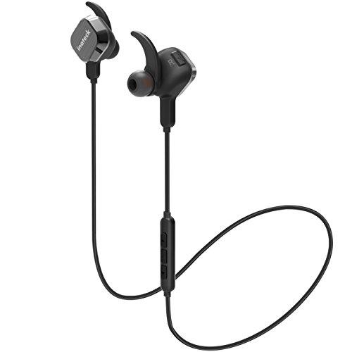 Auricolari/ Cuffie Wireless Bluetooth per cellulari e per fare sport 4.1 EDR Inateck Distanza massima di 10 metri dotate di connettività dispositivo di ultima generazione, cancellazione del rumore di disturbo e collegamento magnetico dei due padiglioni.