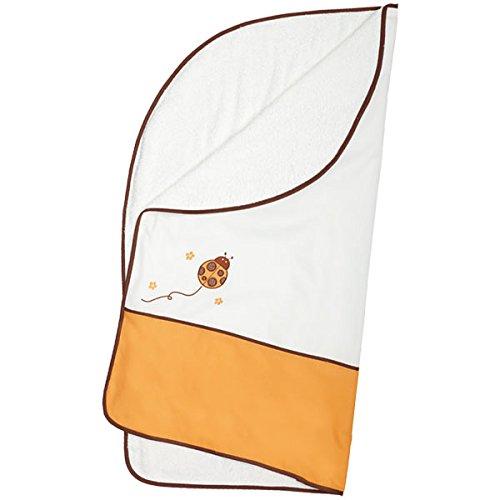 Arrullo para bebé pique rizo (80x80 cm) MARIETA Naranja