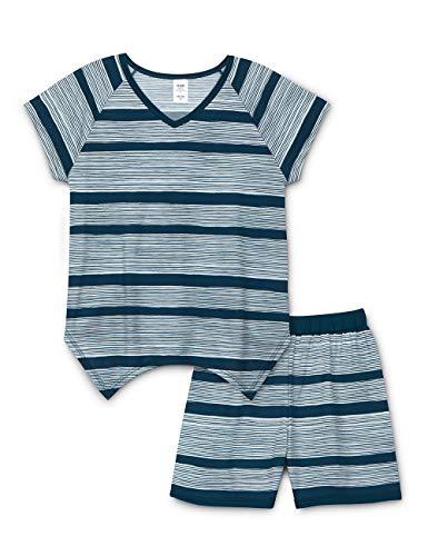 Calida Mädchen Girls Stripes Zweiteiliger Schlafanzug, Blau (Poseidon Blue 529), 140 -