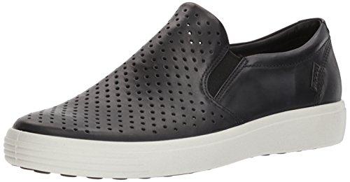 Ecco Herren Soft 7 Slip On Sneaker, Schwarz (Black), 43 EU