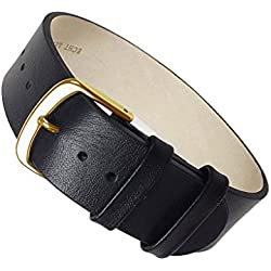 Apollo Replacement Band drawstring Leather Kalf black leather 22456G, width:16mm