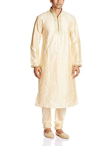 Peter England Men's Kurta Pyjama (8903994478485_POFL5130058_Cream_36)