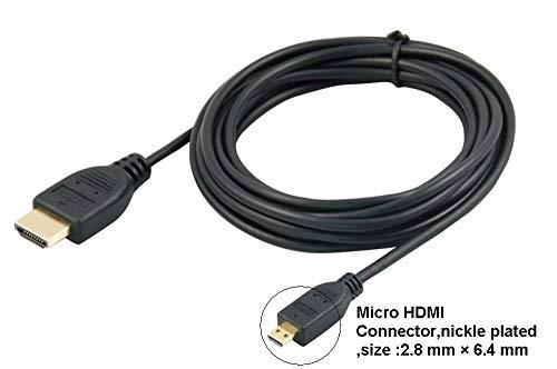 agagadgets 2m Micro HDMI-Kabel für Sony Cyber-Shot DSC-RX100III High Performance Kamera kompakt vergoldet Professioneller High Speed Video Kabel für Kameras Camcorder und einige Smartphones und Tablets mit HDMI-Anschluss (Typ A auf Typ D)-2Meter Cyber-shot Camcorder