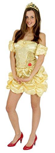 Foxxeo 40128 | sexy goldenes Märchen Prinzessin Kostüm für Damen Gr. XS - L, (Kostüme Cinderella Sexy)