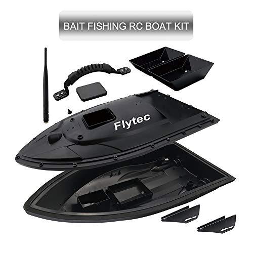 ZJRA Köder Boot Angeln Reparatur-Kit Set, Flytec 2011-5 Schiff, Farbänderung ändern, DIY Fix Package, Mattschwarz