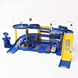 ToysCentral Police Parking Garage 3D Model Playset with DIY Assembling Ramp and 4