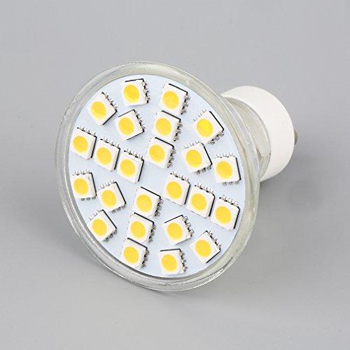 Preisvergleich Produktbild Vvciic 24SMD 5050 GU10 LED SMD Birnen-Punkt-Licht der Leistungs-warmes weies Licht