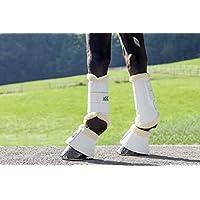 USG pezuñas de Bell Boots con Neopreno de Interior & Synth. Cordero, tamaño M, Color Blanco