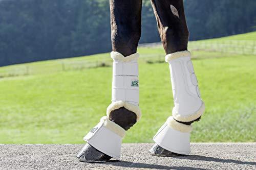 USG Hufglocken Bell Boots mit Neopren-Innenseite & synth. Lammfell, Größe M, Weiss