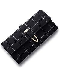 MR.MO Moda para Mujer Monedero RFID de Gran Capacidad Que bloquea la sección Larga