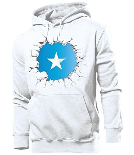 Somalia Fan Artikel 5794 Hoodie Pulli Sweatshirt Kapuzen Pullover Flagge Fahne Team Männer Herren Jungen Boys WM 2022 Football World Cup S
