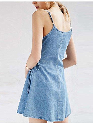 OCHENTA -  Camicia da notte  - Reggiseno a fascia - Donna Denim Blue