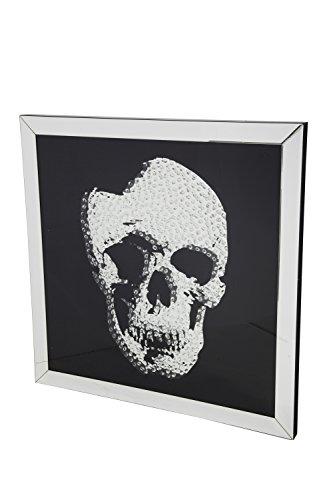 Dugar Home Espejo, Cristal, Plata, Medidas: 100 x 100 cm
