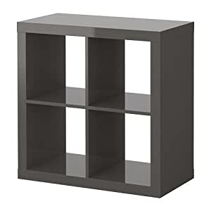 ikea expedit regal in hochglanz grau k che haushalt. Black Bedroom Furniture Sets. Home Design Ideas