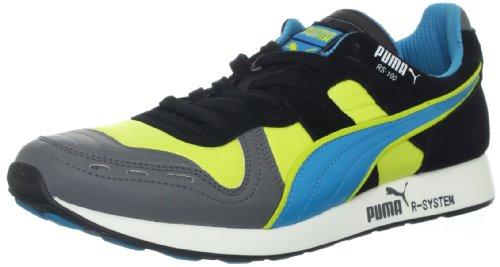 PUMA RS100 LL Lace-Up Fashion Sneaker,Giallo/Steel/Hawaiian/Nero,10.5 US/12 D US (Fluro Yellow)