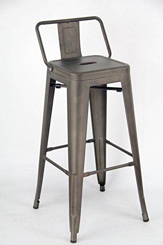 ARREDinITALY Lot 2 tabourets empilables en métal Style Industrial Tolix - réplique en métal Canon de Fusil