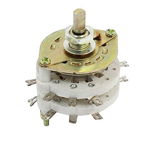 Interrupteur 4 Poles - sourcingmap® 4P3T 4 Pôles 3 Positions Céramique