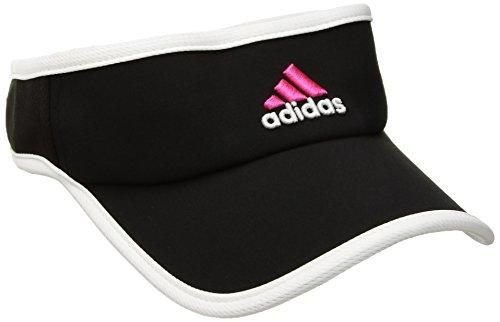 adidas Damen adizero II Visier, Damen, Black/Solar Pink/White, Einheitsgröße