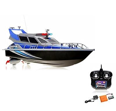 RC Bateau bateau Bateau de Police, Police de Bateau, RC garde-côtes, Ready to Run, 430mm, avec batterie et télécommande