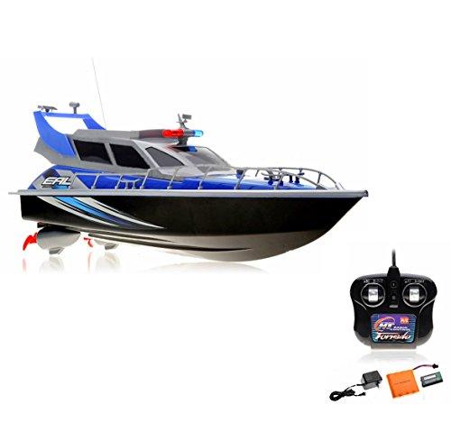 Preisvergleich Produktbild RC ferngesteuertes Polizeiboot Küstenwache Schiff, Ready-to-Run, 430mm, inkl. Akku, Ladegerät, Zubehör, Top-Design