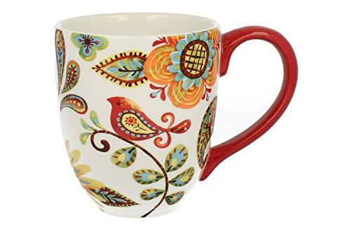 Duo Jumbotasse Becher XXL folkloristische Deko 810 ml aus Keramik Trinkbecher Smoothie Becher Geschenk Büro Tasse für Kaffee Teetasse Cappuccino Kaffeebecher Jumbo-Tasse Riesentasse XXXL (Kurpie 3) Jumbo-tasse