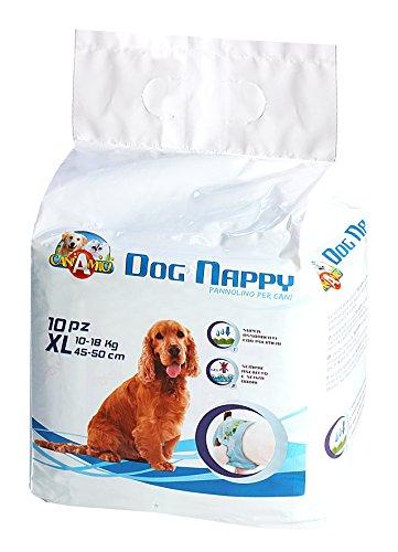 CaniAmici C6020260 Hundewindel, Dog Nappy XL (45-50 cm), 10-18 kg, Inhalt 10 Stück