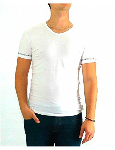 bikkembergs-tshirt-dirk-bikkembergs-white-v-neck-basic-xl-blanco