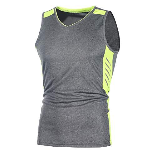Herren Ärmelloses Kompressionsshirt Atmungsaktiv Base Layer Tank Top Ärmelloses T-Shirt Outdoor Radsport Running - Base Layer Fleece Top