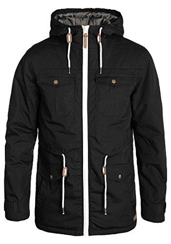 SOLID Tilas Herren Parka Übergangsjacke mit Kapuze aus hochwertiger Materialqualität, Größe:M, Farbe:Black (9000)