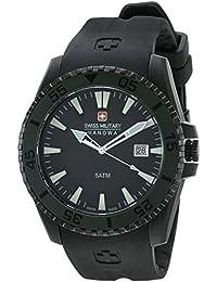 Swiss Military Hanowa 06-4211.27.007.07 - Reloj analógico de cuarzo para hombre, correa de plástico color negro (cifras luminiscentes)