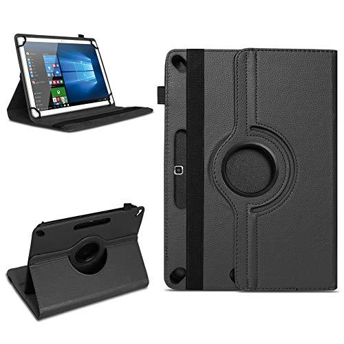 Tablet Tasche für 10 - 10.1 Zoll Hülle Schutzhülle Case Cover 360° Drehbar Neu, Farben:Schwarz, Modell:Acepad A96
