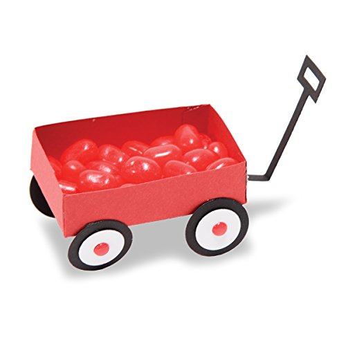 Unbekannt Spellbinders Little Red Wagon Shapeabilities sterben, Metall, braun, 19,5 x 12,4 x 0,2 cm