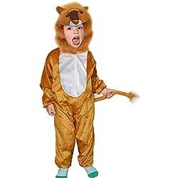 Fun Play Disfraz Animal León niño - Animal Onesie León para niños 5-7 años (122 cm) Talla L
