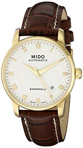 mido-baroncelli-homme-38mm-bracelet-cuir-marron-saphire-automatique-cadran-blanc-montre-m86003268