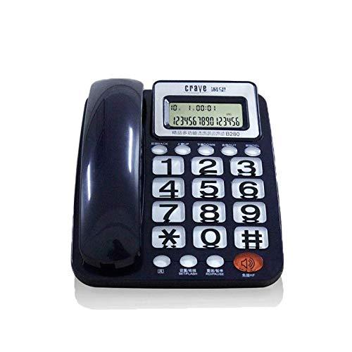 Office Home Festnetz Blacklist Voice Bericht Wired Telefon Hotel Wandbehang Festnetz (Farbe : Blau)
