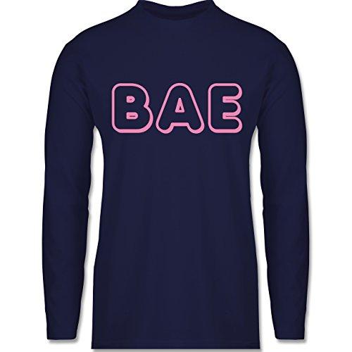 Statement Shirts - BAE - Longsleeve / langärmeliges T-Shirt für Herren Navy Blau