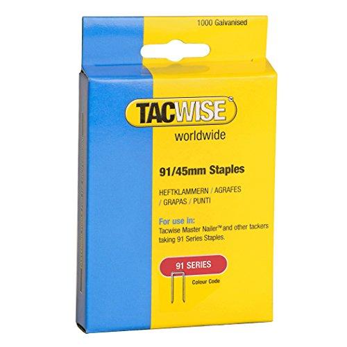 Tacwise 1174 Boîte de 1000 Agrafes à couronne étroite 45 mm Type 91