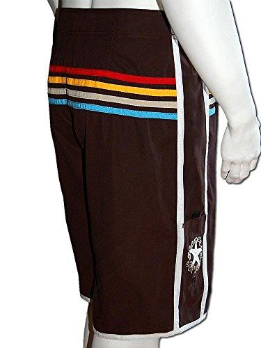 SEESTERN Herren Boardshorts Surfshorts Boardshort Surf Short Bade Shorts XS-3XL Braun