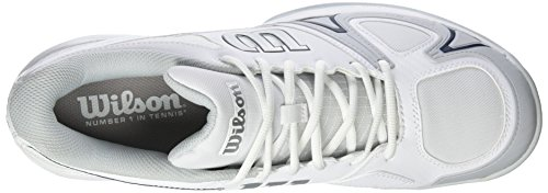 Wilson Herren Rush Evo Tennisschuhe Weiß (White/Pearl Blue/Navy Wil)