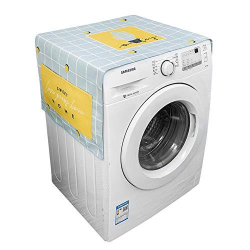 XK Trommel Waschmaschinendeckel,geometrische Gitter Kühlschrank Staubschutzhülle Nachttisch-Tuch Sunscreen Cover Mit Ablagefächer -b 55x140cm(22x55inch) -