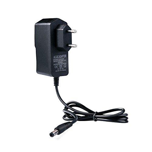 Elegoo Netzteil 9V 1A DC AC 100V-240V Konverter 5.5mm x 2.5mm 1000mA Adapter Ladegerät mit CE Zertifikat Schwarz