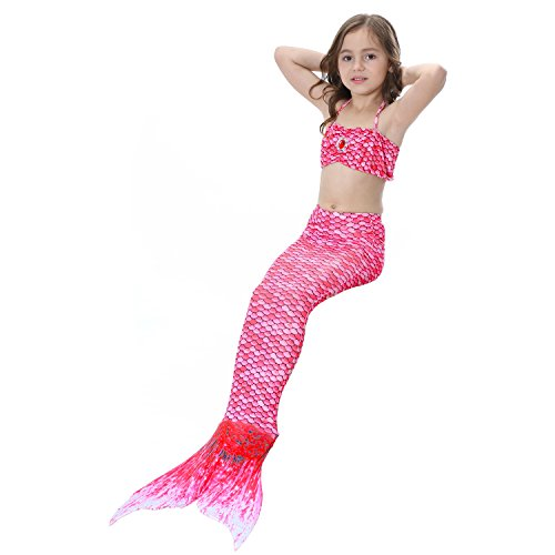 Le SSara Maillots de bain Costume Cosplay Mermaid 3pcs Bikini Ensembles Le SSara