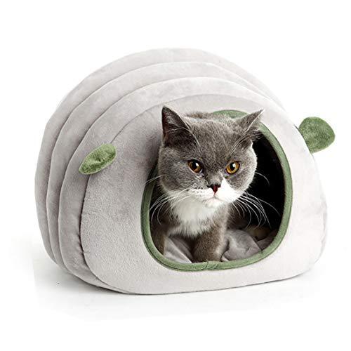 RNYY Haustierbett/Katzenhaus, Raupen-Nest, Hamster, Baumwolle, mit Löchern für Welpen und Katzen, Schlafsack für den Winter, Hausmatte
